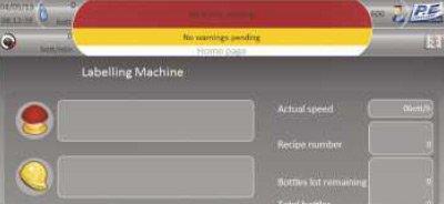 Etykieciarka modular fix - panel dotykowy do sterowania funkcjami maszyny