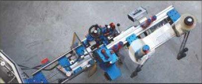 Etykieciarka modular plus - rzut z góry: stacja w pozycji zmiany rolki