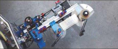 Etykieciarka modular plus - rzut z góry: stacja w pozycji roboczej