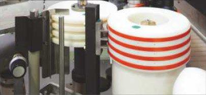Etykieciarka splendid - Szybkowymienny cylinder transferowy etykiet.